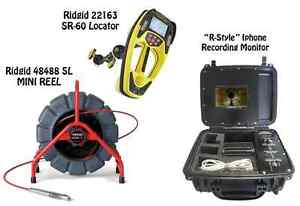 Ridgid 200 Mini Reel 48488 Sr 60 Locator 22163 r style Iphone Monitor