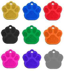 50 Bulk Id Wholesale Paw Shape Pet Identification Blank Tags Anodized Aluminum