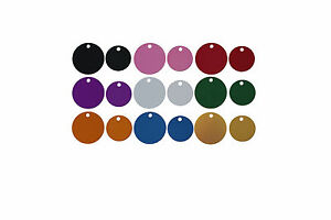 50 Bulk Id Wholesale Round Pet Id Tag Blanks In 2 Sizes And 9 Colors