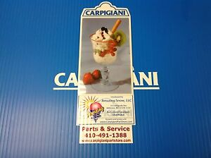 Carpigiani Parts Coldelite Whipped Cream Machine Kw 50 Kw 77 Front Decal