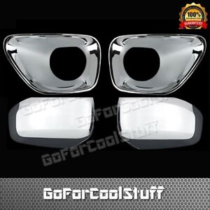 For 2011 2012 2013 Jeep Grand Cherokee Top Mirror Fog Lamp Chrome Cover