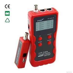 Cable Length Tester Free Shipping Nf 868a Multipurpose Digital Cable Tracker