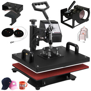 8 In 1 Digital Heat Press Machine Sublimation For T shirt mug plate Printer Hot