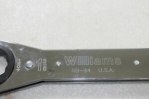 New Williams Usa Ratchet Box Wrench 1 3 8 rb 44 wr 12a c 5