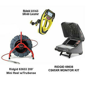 Ridgid 200 Mini Reel W ts 63633 Seektech Sr 60 Locator 22163 Cs65xr 69038