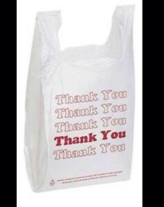Lot 1000 Thank You Plastic Medium Size Shopping Merchandise Bags 11 5 x 6 X 21