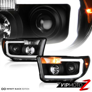 For 07 13 Toyota Tundra Cyclop Optic Neon Tube Black Projector Headlight Lamp