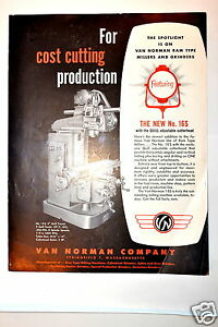 Van Norman for Cost Cutting Production Brochure rr382 Milling Machine