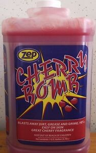 Zep Cherry Bomb Hand Cleaner 4 Gallon Case 98 89 Free Shipping see Details