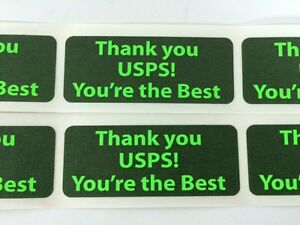 50 1 X 2 5 Thank You Usps You re The Best Shipping Labels Stickers Green Neon
