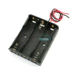 2pcs Plastic Case Battery Storage Holder Box With Wire Leads For 3 X Aa 4 5v