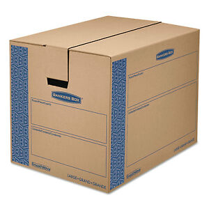 Bankers Box Smoothmove Prime Large Moving Boxes 24l X 18w X 18h Kraft blue 6