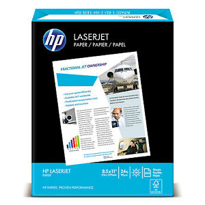 Hp Laserjet Paper Ultra White 97 Bright 24lb Letter 2500 Sheets carton 115300