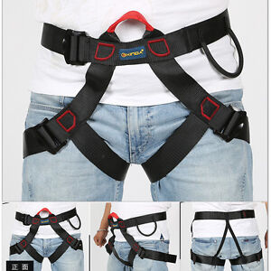 New Outdoor Climbing Caving Safety Harness Adults Sit Waist Belt Safe Strap Tool