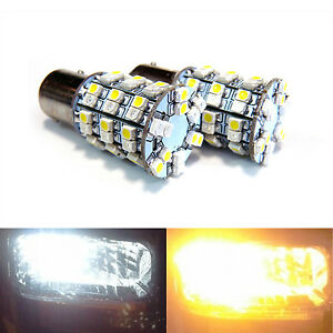 2x 1157 Dual Color Switchback Amber Led Turn Signal Light Bulb Load Resistor