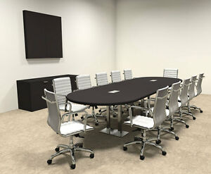 Modern Racetrack Steel Leg 12 Feet Conference Table of con cm10