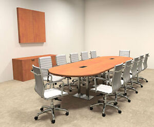 Modern Racetrack Steel Leg 12 Feet Conference Table of con cm12