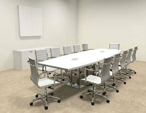 Modern Boat Shaped Steel Leg 12 Feet Conference Table of con cm22