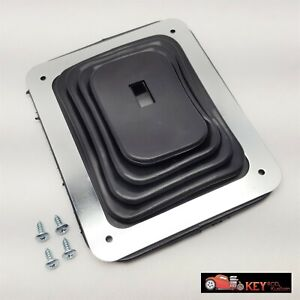 Universal Small Floor Shifter Boot With Chrome Ring 5 5 8 X 6 3 4 Hurst B