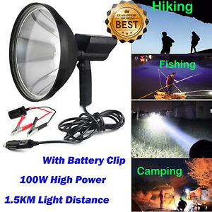 100w 9 Inch 240mm Handheld Hid 9 Spotlight Driving Lights Hunting Search Lamp