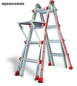 Little Giant Alta One 17 Foot Ladder W Work Platform 250 lb Weight Rating