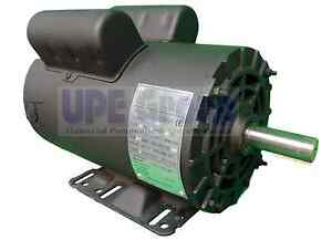 5 Hp 3450 Rpm Electric Motor Compressor Duty 56 Frame 1 Phase 7 8 Shaft