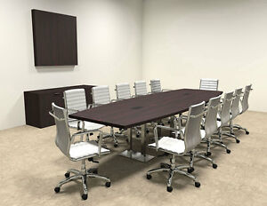 modern Boat Shaped Steel Leg 12 Feet Conference Table of con cm28