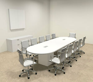 Modern Racetrack Cube Leg 12 Feet Conference Table of con cq8