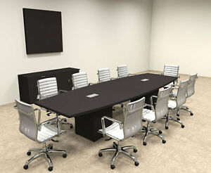 Modern Boat Shaped Cube Leg 12 Feet Conference Table of con cq24