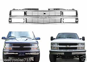 Replacement Chrome Grill For 1994 1999 Chevy C k 1500 2500 3500 New Free Ship