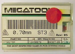 Box Of 50 Megatool St30276r 70mm St3 Reshopped Carbide Pcb Drill Bit Set