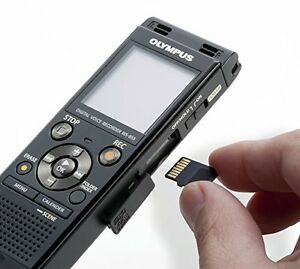 Olympus Digital Voice Recorder Black Stereo 8gb Memory Micro Sd Card Slot Mp3