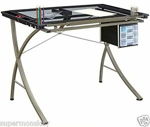 Artie s Studio Art Drawing Table Craft Station blue Glass