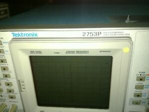 Tektronix 2753p Programmable Spectrum Analyzer Tested Working Qty Working