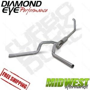 Diamond Eye 4 Turbo Back Dual Exhaust 99 03 5 Ford F250 F350 7 3l Powerstroke