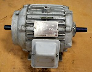 Delco 1g1454cc Double Shafted Motor Hp 1 Rpm 1155 1200 Frame184fcz Used