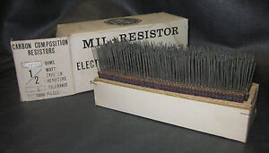 Mil Spec Box Of 1 2w Watt Carbon Comp 5 Resistors 11m Ohm 700 Pieces