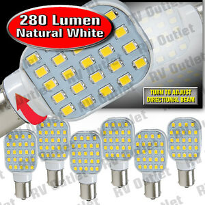 6 Pk 1156 1141 Base Led Replacement Bulb 280 Lum 10 24v Natural White