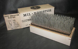 Mil Spec Box Of 1 2w Watt Carbon Comp 5 Resistors 1 5 Ohm 1000 Pieces