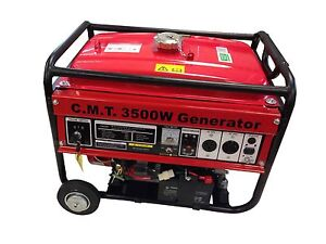 3500w 6 5hp Gasoline Generator W Wheel Electric Start Epa