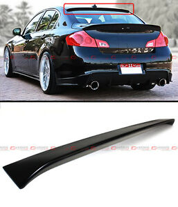 Vip Sport Style Rear Roof Spoiler Visor Fit For 2009 2013 Infiniti G25 G37 Sedan