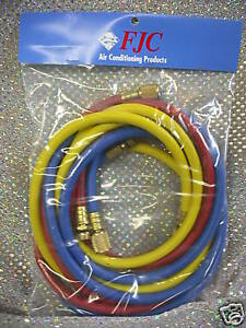 R134a Charging Hose Set 72 Yellow Blue And Red
