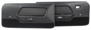 Mustang Door Panels Deluxe Pair 1969 Black Mach 1