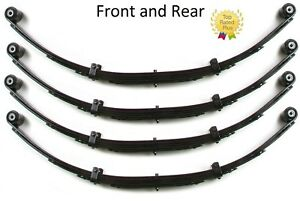 Zone 4 Front And Rear Leaf Spring Lift Kit Set Of 4 For 87 95 Jeep Wrangler Yj