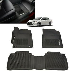2015 2017 Camry Floor Mats All Weather Floor Liner Genuine Toyota Pt908 03155 20