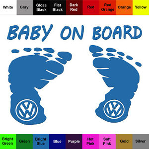 Baby On Board Decal Vinyl Safety Vw Sticker