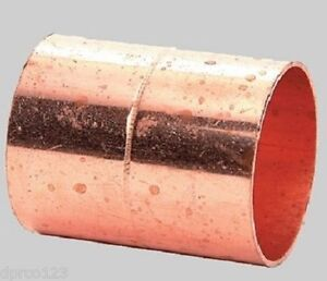1 1 2 Copper Coupling w stops Wrot Copper Pipe Connector Fits 1 5 8 Od Pipes