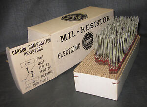 Mil Spec Box Of 1 2w Watt Carbon Comp 5 Resistors 220 Ohm 700 Pieces