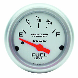 Auto Meter 4314 Fuel Level Gauge 2 1 16 0 Ohms Empty To 90 Ohms Fu