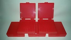 BERRY'S PLASTIC AMMO BOXES (5) RED 100 Round 9MM  380 - FREE SHIPPING